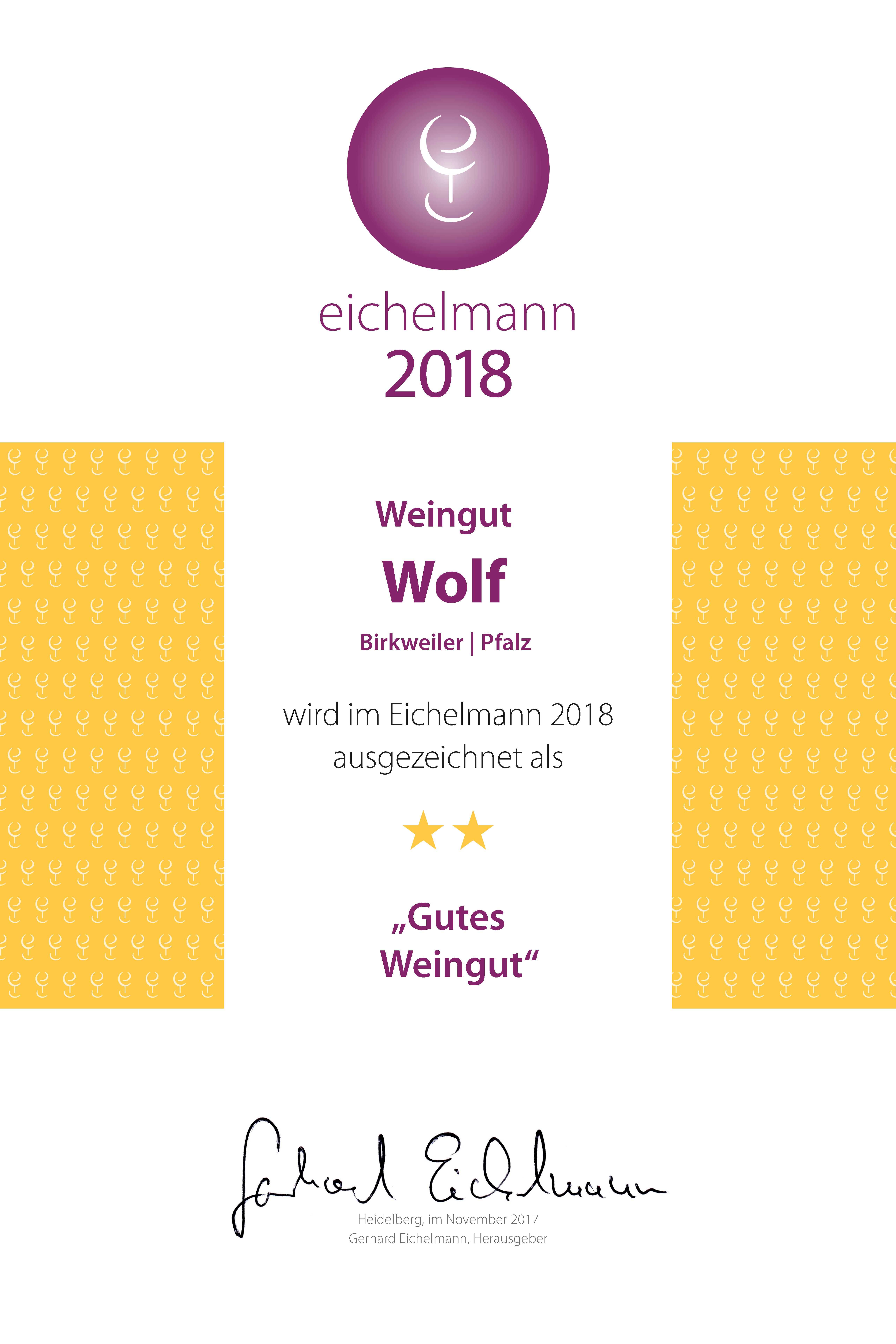 """Eichelmann 2018 – """"Gutes Weingut"""""""